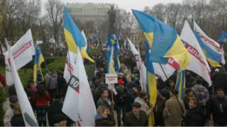 В Киеве протестуют сторонники евроинтеграции