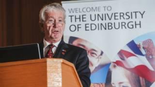 爱丁堡大学校长奥谢在联合研究中心成立仪式上