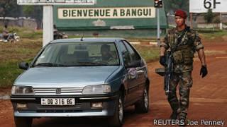 Askari wa usalama mjini Bangui