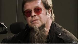 Борис Гребенщиков в студии Русской службы Би-би-си в 2007 году.