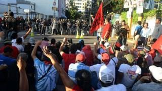 Protestas de simpatizantes del Partido Libre. Foto Getty Images.