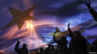 Студенты на демонстрации в Киеве