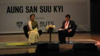 Daw Aung San Suu Kyi is in Sydney.
