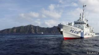 Barco chino vigila las islas Senkaku/Diaoyu