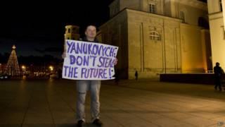 Одиночный пикет в Вильнюсе
