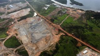Usina de Belo Monte vista em 2012. Foto: AFP