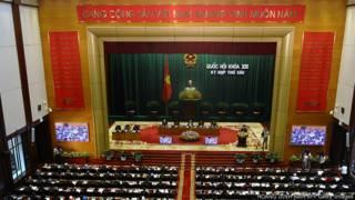 Quang cảnh họp Quốc hội hôm 21/10/2013