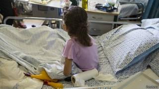 Niña siria es atendida en hospital de Israel