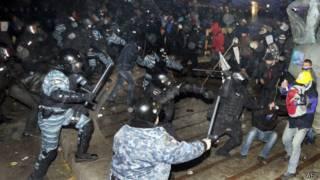 Cảnh sát Ukraine trấn áp cuộc biểu tình