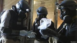 Эксперты по химическому оружию в Сирии