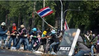 Protestas en Bangkok