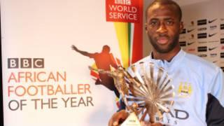 Yaya Touré a remporté le trophée du meilleur footballeur de l'année de la BBC