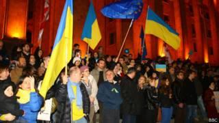 Акция в Тбилиси