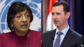 Bà Navi Pillay và ông Bashar al-Assad