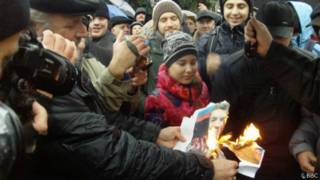 Митинг против насилия в Донецке
