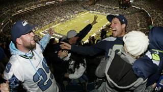 Seattle equipo celebracion
