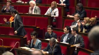 फ़्रांस की नेशनल असेम्बली का दृश्य