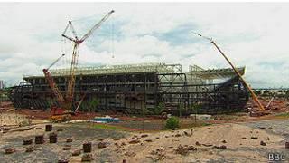 Estadio en Brasil