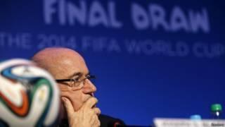 Presidente da Fifa, Joseph Blatter, na Costa do Sauípe / Crédito da foto: Reuters