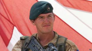 Сержант британской морской пехоты Александр Блэкман
