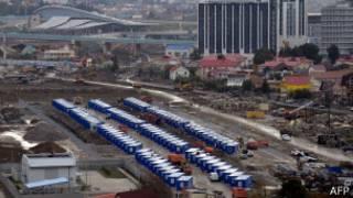 Олимпийский парк в Сочи 30 ноября