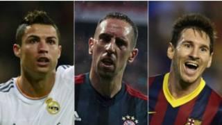 Messi, Ronaldo and Ribery
