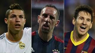 Ronaldo Ribery Messi