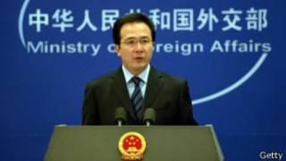 中国外交部发言人洪磊(库存图片)