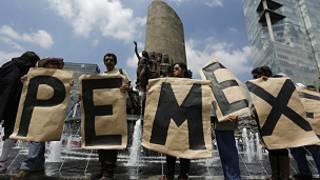 Protesta a favor de Pemex