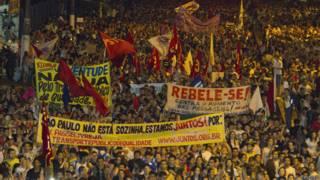 Protestas en Brasil en junio