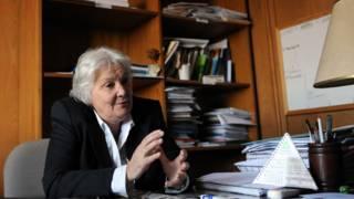 Lucía Topolanski, em seu escritório em Montevidéu. Foto: AFP