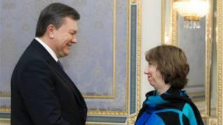 Shugaban Ukraine Yanukovich da Catherine Ashton ta EU