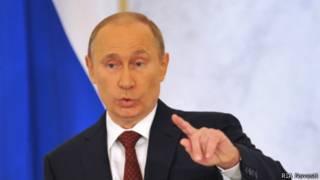 Владимир Путин выступает с посланием Федеральному Собранию 12 декабря 2013 года