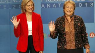 Matthei e Bachelet, candidatas à Presidência chilena (AFP)