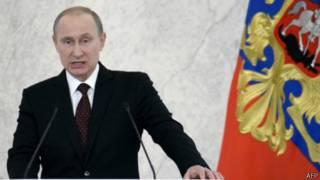 Владимир Путин выступает с посланием Федеральному Собранию 12 декабря 2013 г.