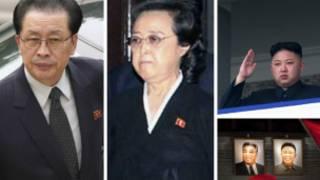 از راست: رهبر کره شمالی، عمه او و شوهر عمه اش
