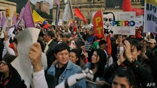 Manifestación plaza de Bolivar