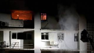 बहुमंज़िला इमारत में आग