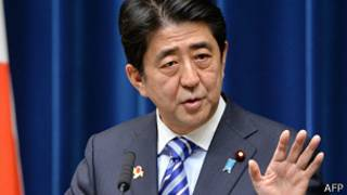 安倍晉三在東京會見媒體記者(14/12/2013)