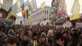 Protesto em Kiev. BBC