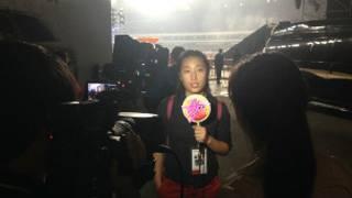 瞿婧宇在前不久的汪峰演唱會上代表主辦方接受媒體採訪