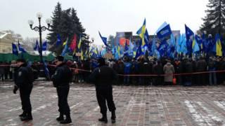 Сторонники Виктора Януковича