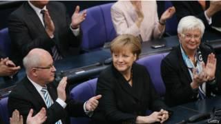 Ангела Меркель после голосования