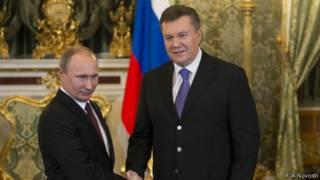 Владими Путин и Виктор Янукович в Кремле