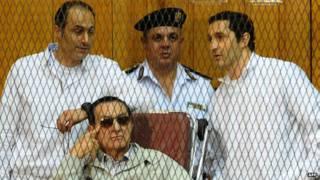 Hosni Mubarak e filhos