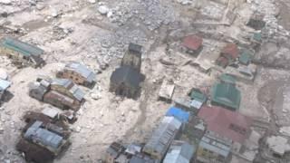 आपदा के बाद केदारनाथ मंदिर