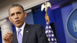 Барак Обама на пресс-конференции в Белом Доме 20 декабря 2013 г.