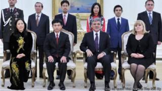 Đại sứ Nguyễn Thế Cường và phu nhân khi trình thư ủy nhiệm lên Tổng thống Thổ Nhĩ Kỳ