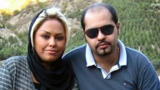 پیمان عارفی و همسرش زیبا صادق زاده