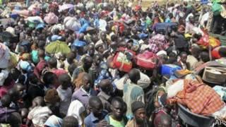 Wakimbizi Sudan Kusini katika kambi ya UMoja wa Mataifa huko Bor